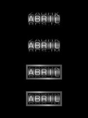 ABRIL counter calendar - mes español