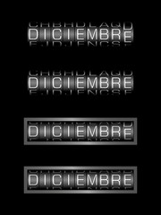 DICIEMBRE counter calendar - mes español