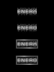 ENERO counter calendar - mes español