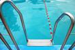 Leinwandbild Motiv Schwimmbad Einstieg Treppe