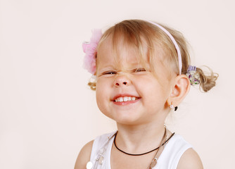 Laughing toddler girl
