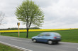 Radarkontrolle auf Landstraße