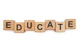 Fototapety Educational blocks
