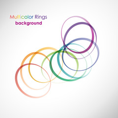 Rings Background Multicolor # Vector
