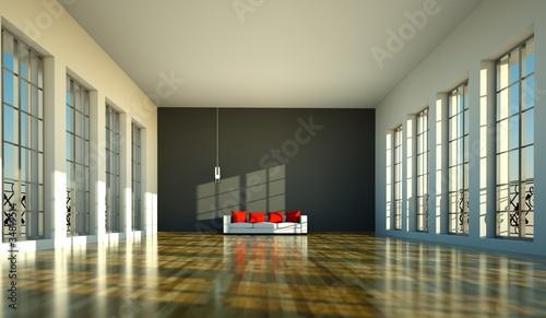 Wohndesign - Loft mit Sofa