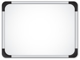 Fototapety Whiteboard Metal Border. Insert your message