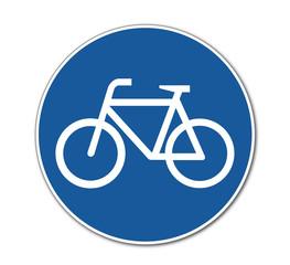 Fahrradfahrer, Verkehrsschild