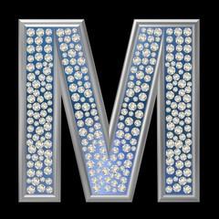 Diamant Buchstabe M