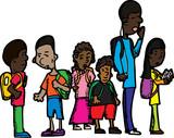 Group of Schoolchildren poster