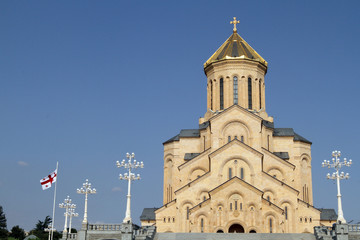 St. Trinity (Sameba) Orthodox cathedral in Tbilisi, Georgia