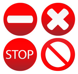 Set of variants a stop sign