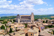 View over the Italian hill town, Orvieto and its Duomo