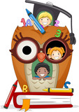 Fototapety Kids Owl House