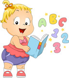 Fototapety Toddler Book