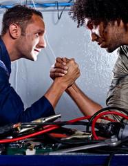 Mechanics arm-wrestling