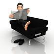 3D business man relaxing4