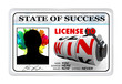 License to Win Laminated ID Card Opportunity for Success