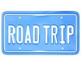Road Trip Words on Vanity License Plate Holiday Travel poster