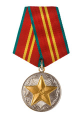 russian medal close up