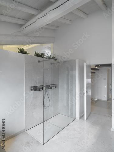 ... vicenza vismara vetro. Box doccia in vetro e muratura nel bagno