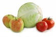 cabbage,tomatoes and apples