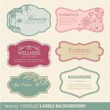 Fototapety Beauty vintage labels background