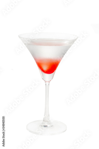 Lychee martini cocktail  isolated on white background