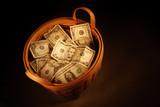 košík peníze