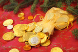 Gold Chocolate Coins for a Christmas gift