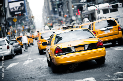 Foto op Plexiglas New York City New York taxi