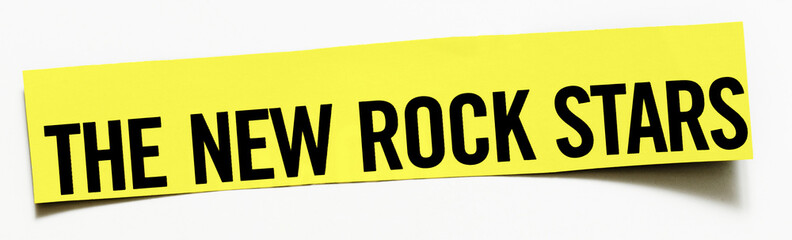 "Clipping ""The New Rock Stars""  word on white background"