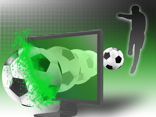 soccer on 3d television
