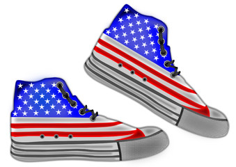 Shoes  american flag