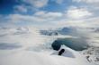 Typical Arctic winter landscape