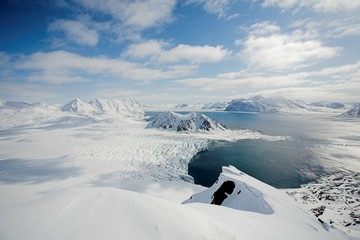 Typical Arctic winter landscape