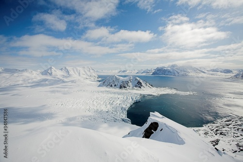 In de dag Antarctica 2 Typical Arctic winter landscape