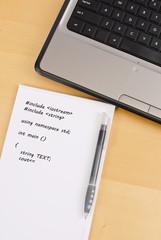 Programming Note Sheet