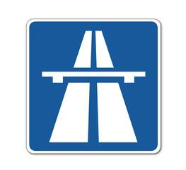 Autobahn, Verkehrsschild