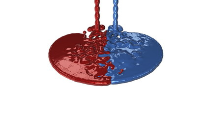 Paint Red and Blue Leakage