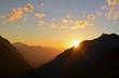 coucher de soleil vu de  Silvretta Hütte