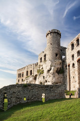 Gothic rocky castles in Poland. Touristic route of Eagle's Nest