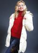Beautiful blond winter woman