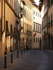 Picturesque street in antique center Arezzo, Tuscany