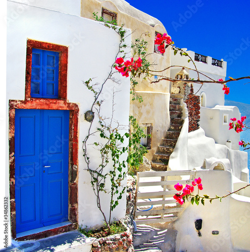 Fototapety, obrazy : traditional Greek islands series - santorini