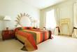 camera da letto in hotel di lusso