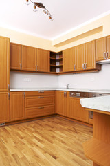 New wooden kitchen