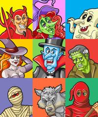 Halloween Character Avatar Set