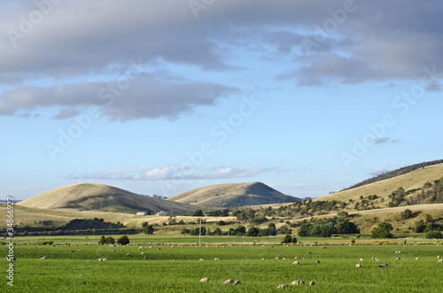 Farmland, Coal River Valley, Tasmania, Australia
