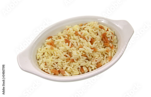 Rice pilaf in small dish