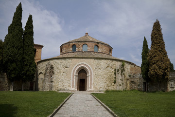 Perspective of an Ancient Church in Perugia, Umbria, Italy